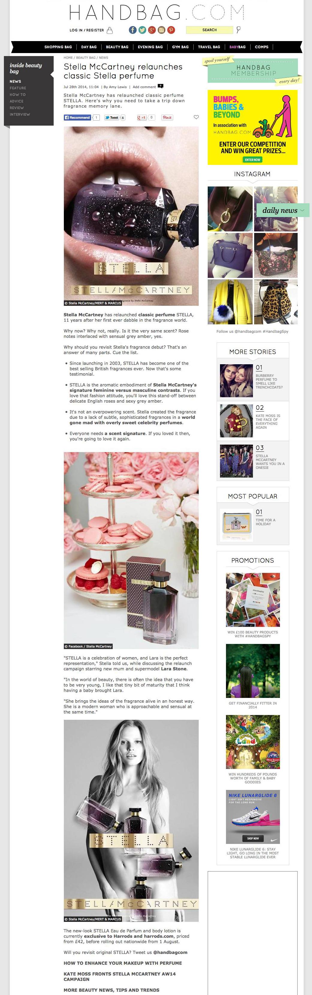 Stella McCartney relaunches classic Stella perfume