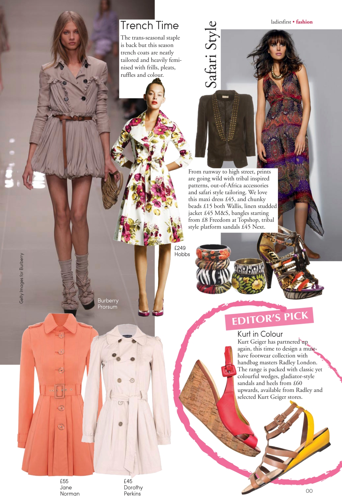 Fashion news spread - Ladies First Spring 2010 issue-page 2- Amy Lewis