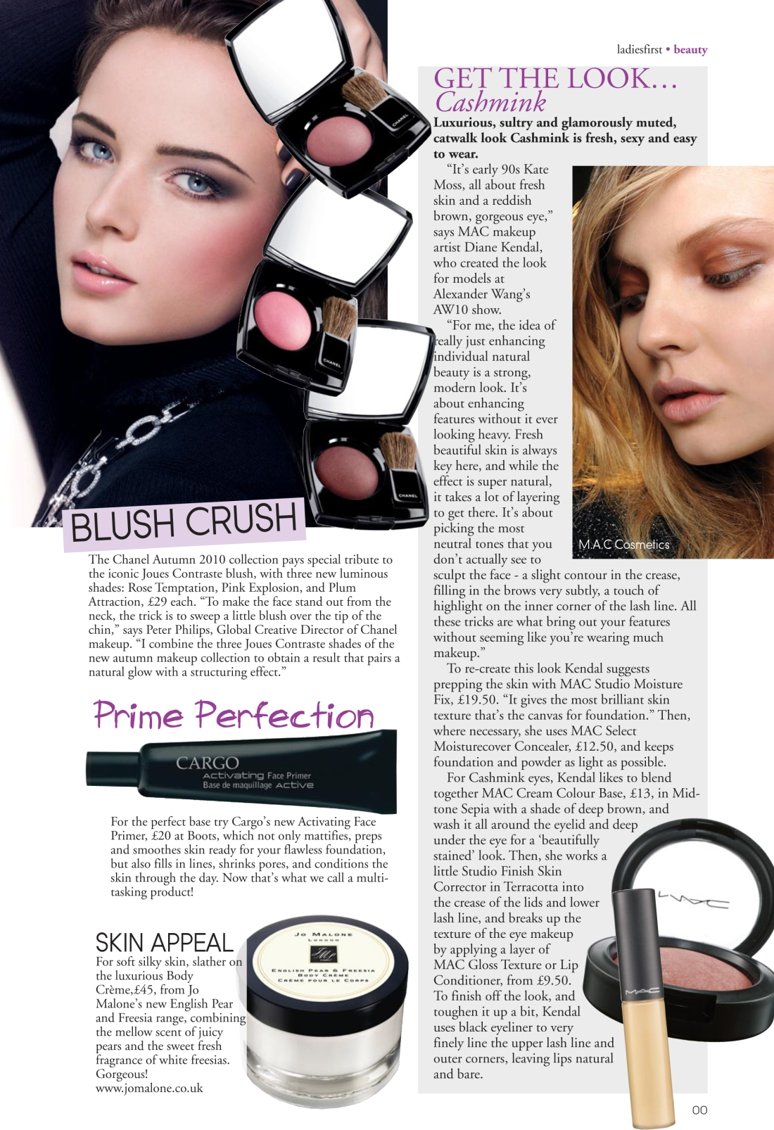 Beauty news spread - Ladies First Autumn 2010 issue-page 2-Amy Lewis