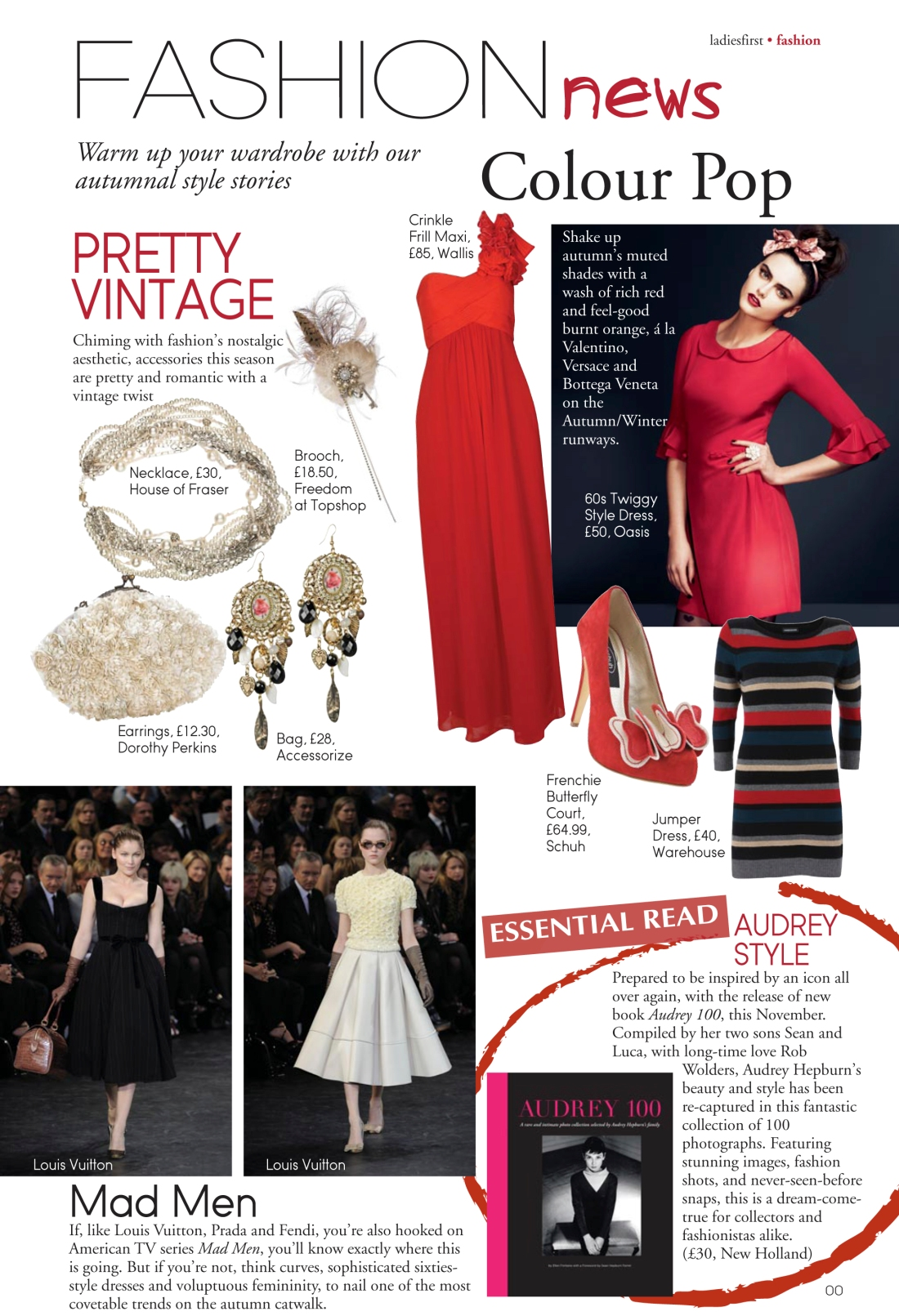 Fashion news page - Ladies First Autumn 2010 issue-Amy Lewis