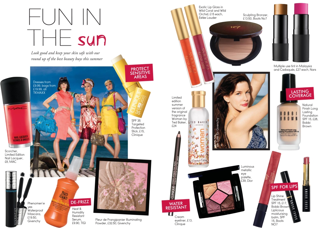 Summer beauty product round-up to support Ladies First Beauty Bible 2010 sponsored supplement-Amy Lewis