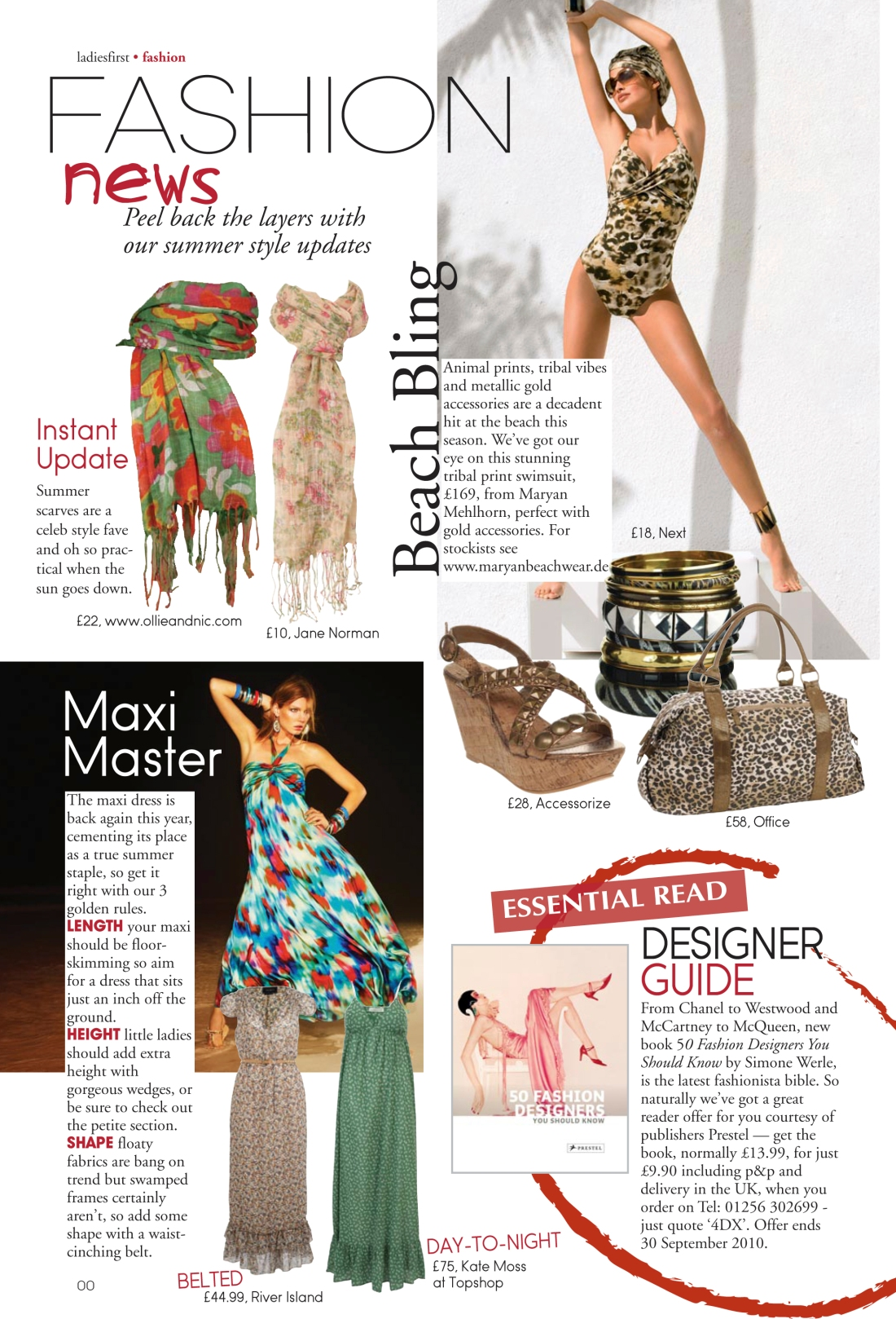 Fashion news page - Ladies First Summer 2010 issue-Amy Lewis