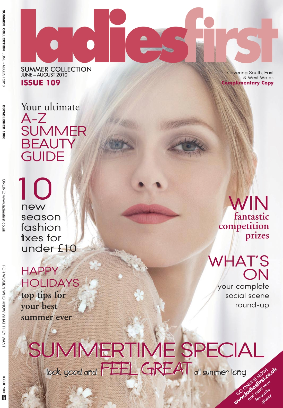 Ladies First Summer 2010 issue- front cover-Amy Lewis
