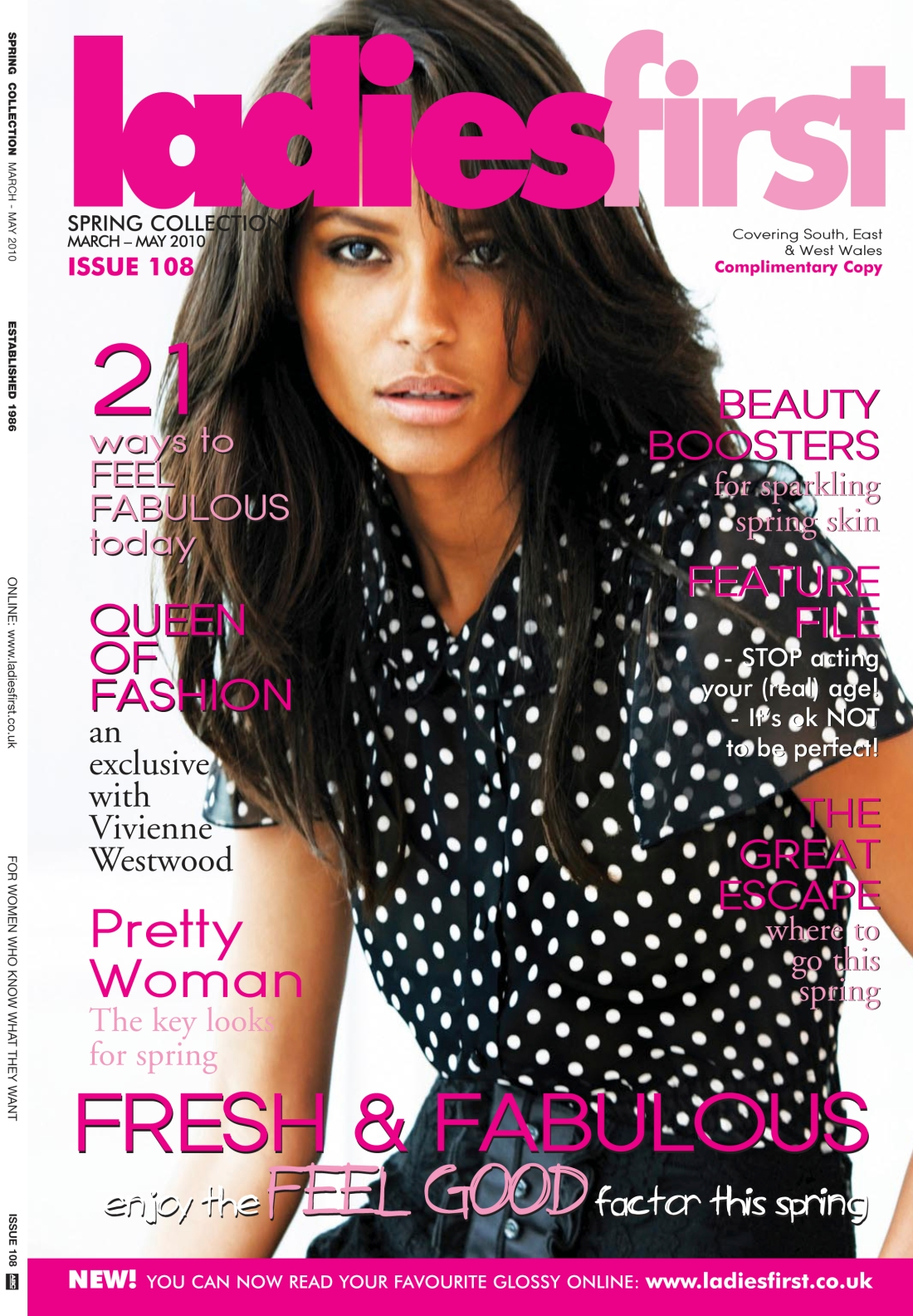 Ladies First Spring 2010 issue-front cover- Amy Lewis