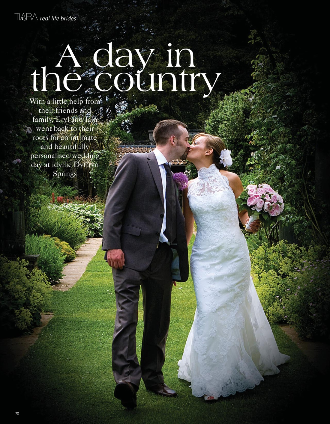 Real life brides feature, Eryl and Iain, Tiara magazine Spring 2010 issue-page 1 - Amy Lewis