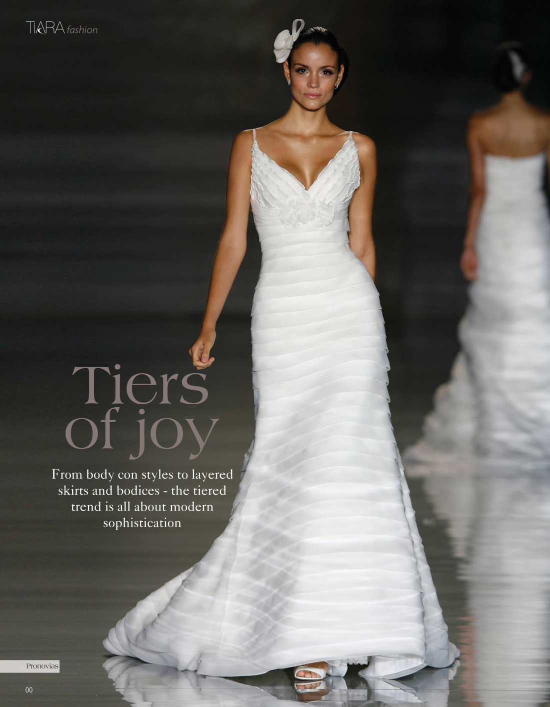 Wedding dress trends feature, Tiara magazine Spring 2010 issue - Amy Lewis - Page 1