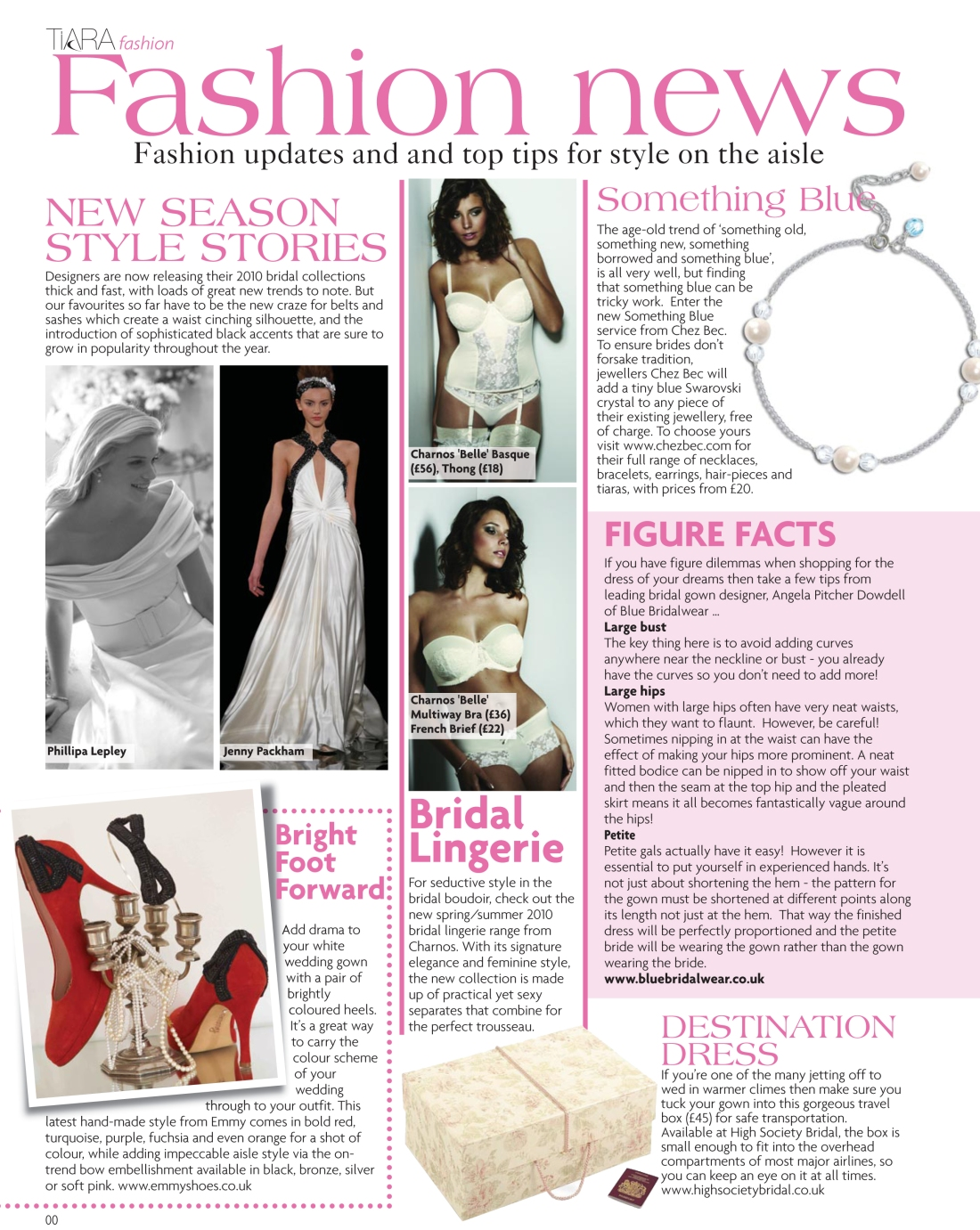 Bridal fashion news - Tiara Spring 2010 issue - Amy Lewis