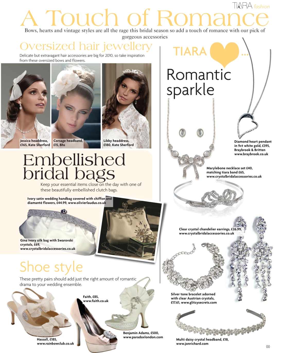 Wedding accessories fashion feature - Tiara magazine Spring 2010 issue - Amy Lewis