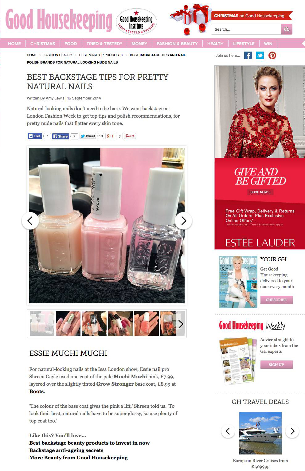 Top tips for natural nails_backstage at London Fashion Week
