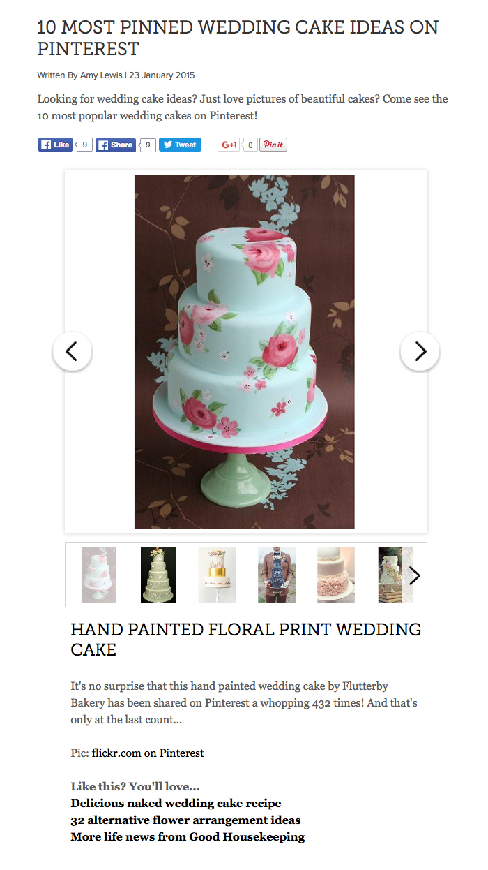 10 most pinned wedding cake ideas on Pinterest