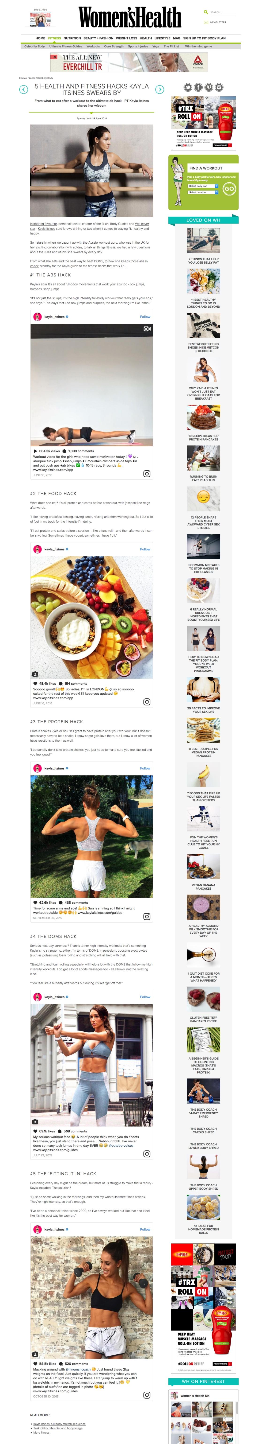 5 Health And Fitness Hacks Kayla Itsines Swears By